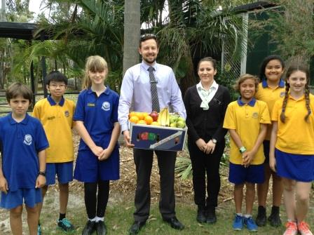 Fruit donation from Woolworths Coolangatta